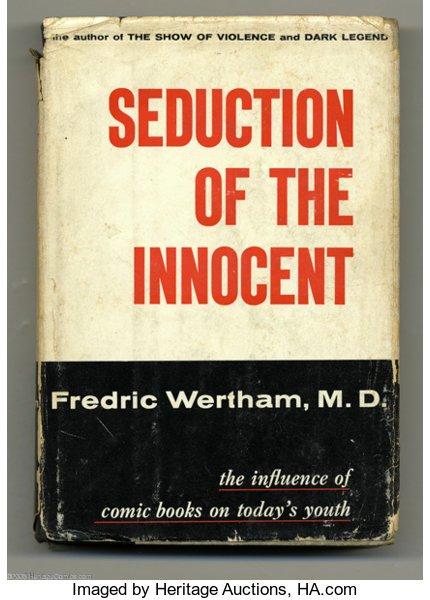 cover della prima edizione di Seduction of the innocent, di Fredric Wertham,
