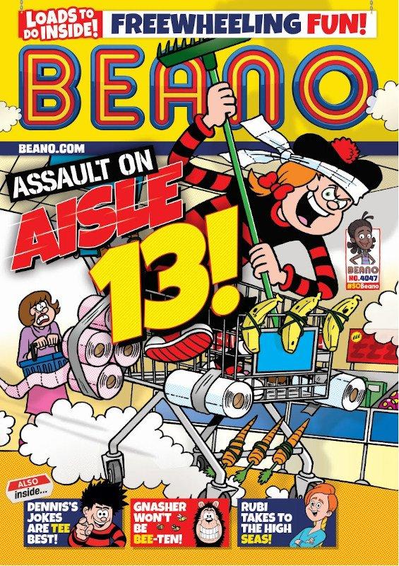 cover di un numero della rivista settimanale BEANO