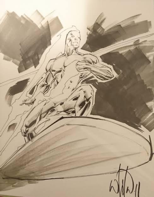 Sketch di Silver Surfer di Whilce Portacio