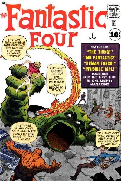 cover di fantastic four #1 (agosto-novembre 1961)