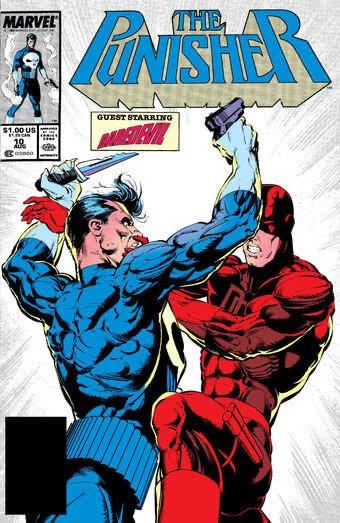Cover di the Punisher #10, disegni di Whilce Portacio