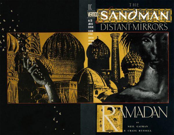 """the sandman#50 """"distant-mirrors"""" cover © degli aventi diritti"""