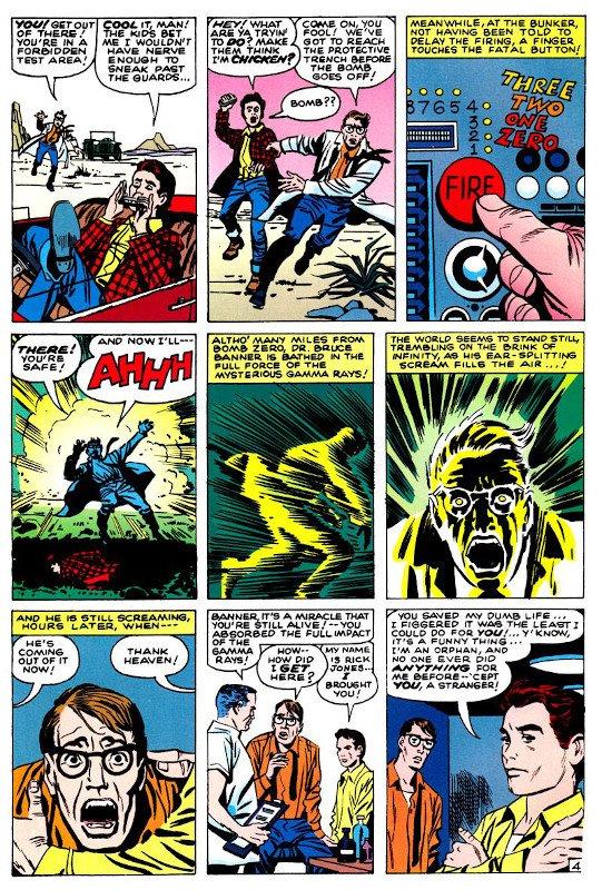 La 9 vignette clou con le origini di Hulk.