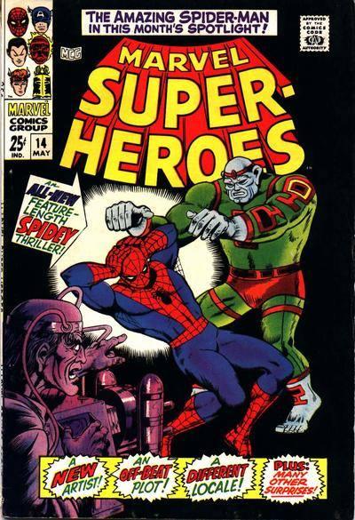 COVER di ROSS ANDRU, per MARVEL SUPER-HEROES 14. L'episodio apparve in Italia con il titolo IL MAGO, nel n.56 dell'UOMO RAGNO Corno.
