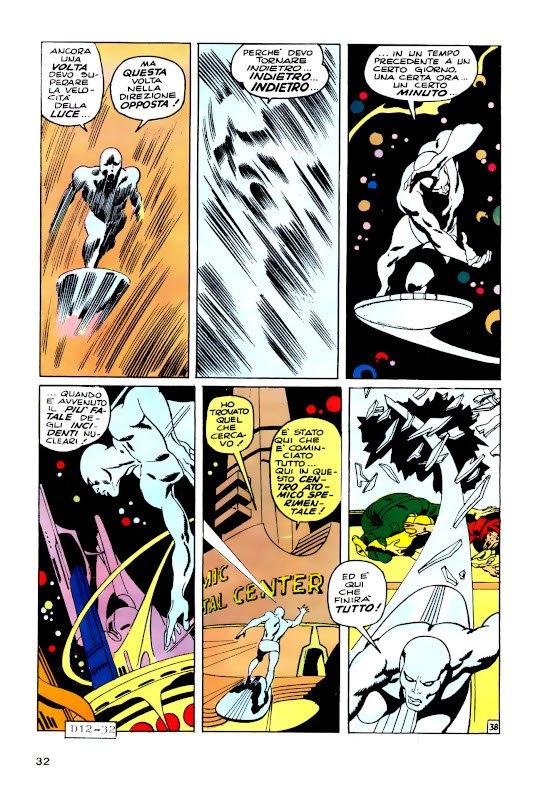 Una tavola tratta da una storia di Silver Surfer (dall'albo italiano di Devil #12) che continua ...