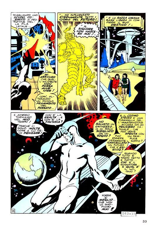 ... con quest'altra tavola, sempre  tratta da una storia di Silver Surfer (dall'albo italiano di Devil #12)