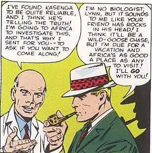 La vignetta con il biondo fumatore di pipa di nome Frank, che aveva già avuto a che fare con una formica gigante in STRANGE TALES 73 di inizio 1960.