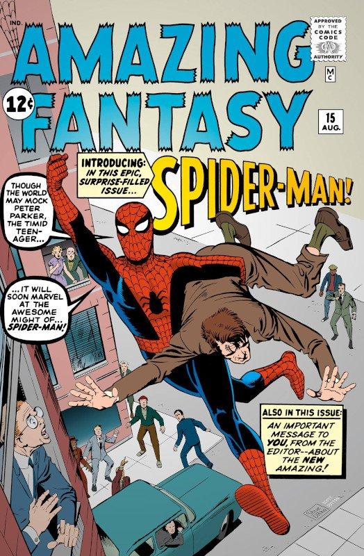 Cover di Amazing fantasy #15 di Steve Ditko
