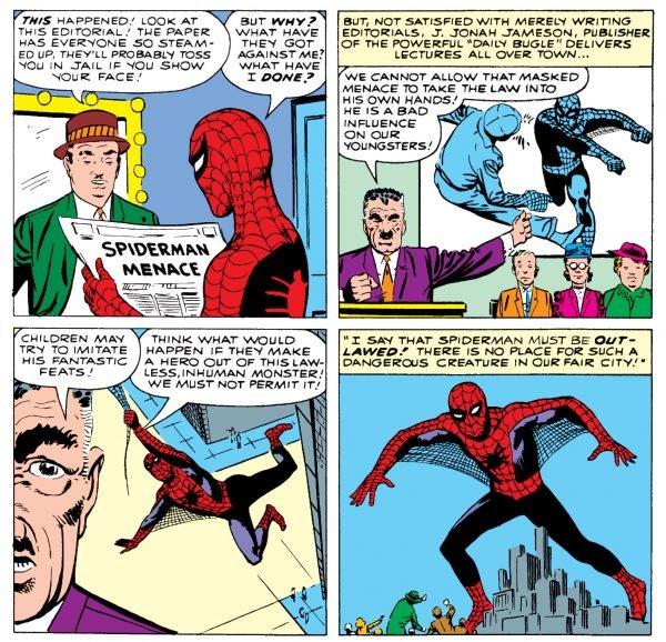 Il direttore del giornale J.J. Jameson, in presso il quale Peter Parker meglio noto come Spider-Man lavora, era uno degli acerrimi nemici dell'eroe mascherato.