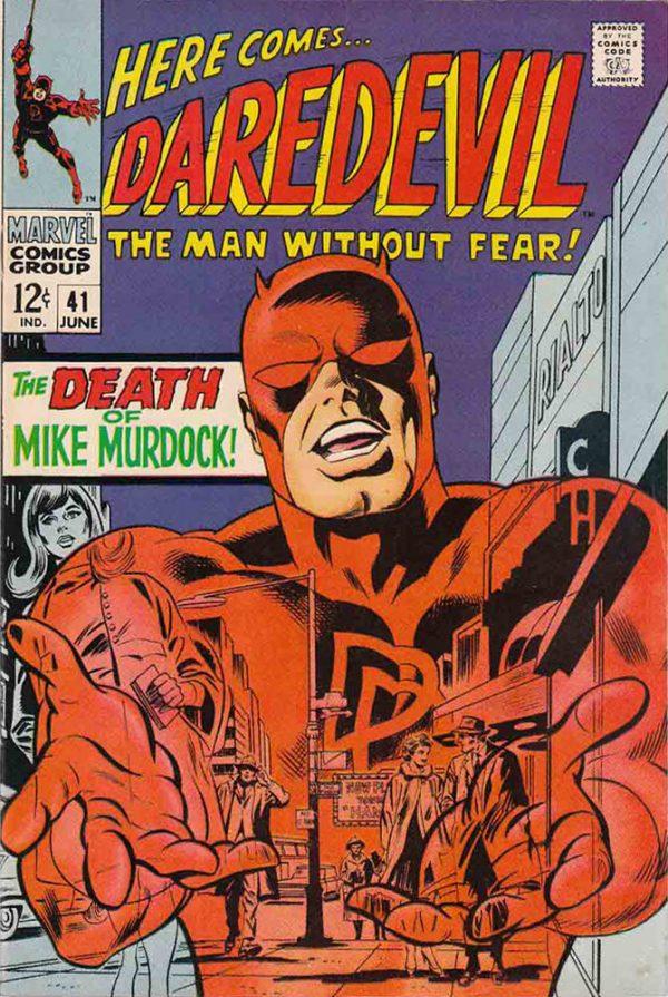 Una della più belle copertine di Daredevil, the Man without Fear.