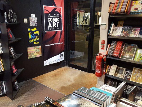 Foto degli interni della libreria Page 45 a Nottingham. Per gentile concessione