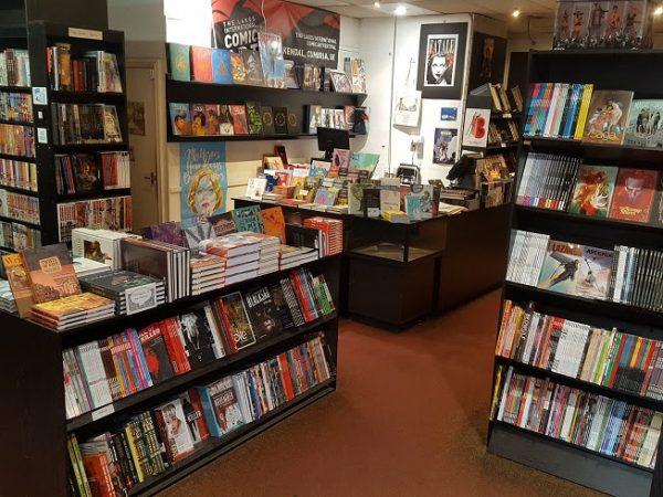Altra foto degli interni della libreria Page 45 a Nottingham. Per gentile concessione