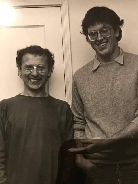 """Geof Darrow e Moebius, all'epoca della collaborazione per """"La Cité Feu """""""