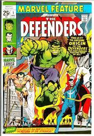 I Difensori esordirono perciò in Novembre sul n.1 della nuova testata MARVEL FEATURE 1 (disegni di Ross Andru), dando il via ufficiale a quella che sarebbe stata la Seconda Ondata Marvel.