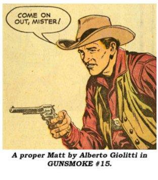 vignetta western disegnata da Giolitti_tratta da Gun Smoke