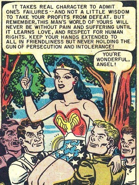 una vignetta con Wonder Woman (anni 40)