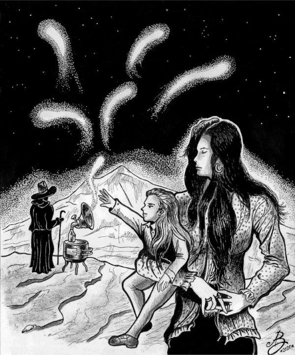 """""""Il mago delle comete"""", illustrazione di  ANTONIO BARRECA, dedicat a aGiannI rodari"""