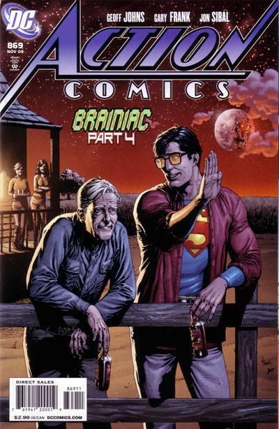 Cover dell'albo originale ACTION COMICS 869 del 2008.