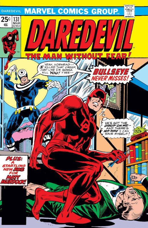 Cover dell'albo Daredevil #131 con l'apparizione del nuovo bullseyes