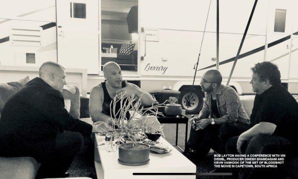 Foto con Vin Diesel durante il film di bloodshot