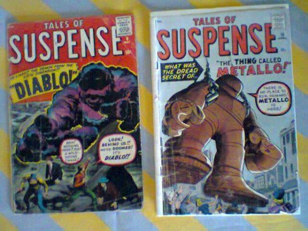 """i due albi Tales of Suspense 7 e  16 con gli elementi """"embrionali di Iron man"""