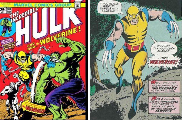 la prima apparizione di Wolverine, nell'ultima vignetta della storia pubblicata su Incredibile Hulk #181