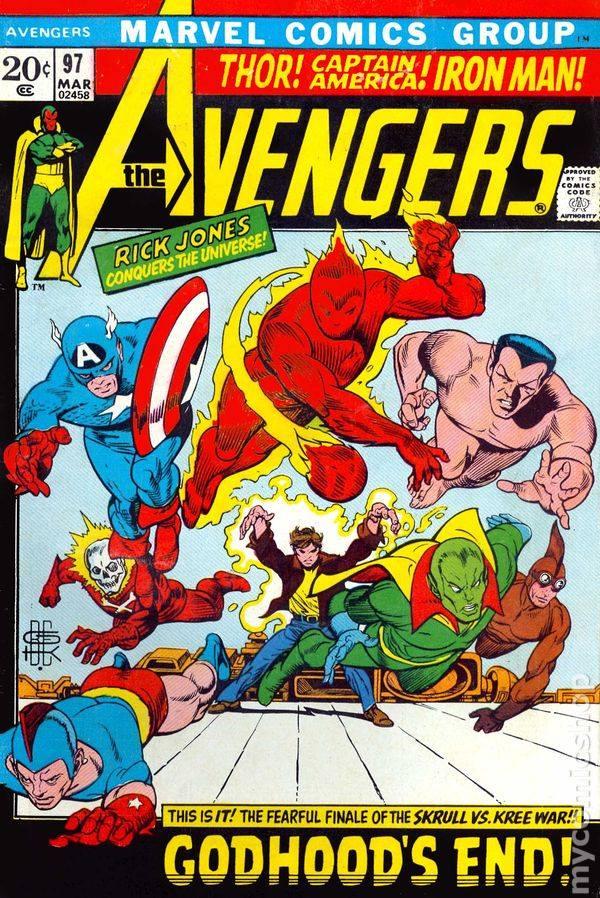 Cover dell'albo Avengers #94 in cui viene ripreso il personaggio di Blazing Skull.