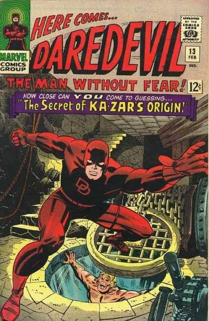 Daredevil #13, copertine e disegni di John Buscema