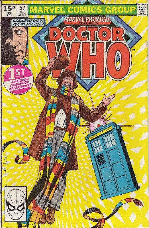 Cover dell'albo MARVEL PREMIERE 57, con il popolare personaggio televisivo Dr. Who.