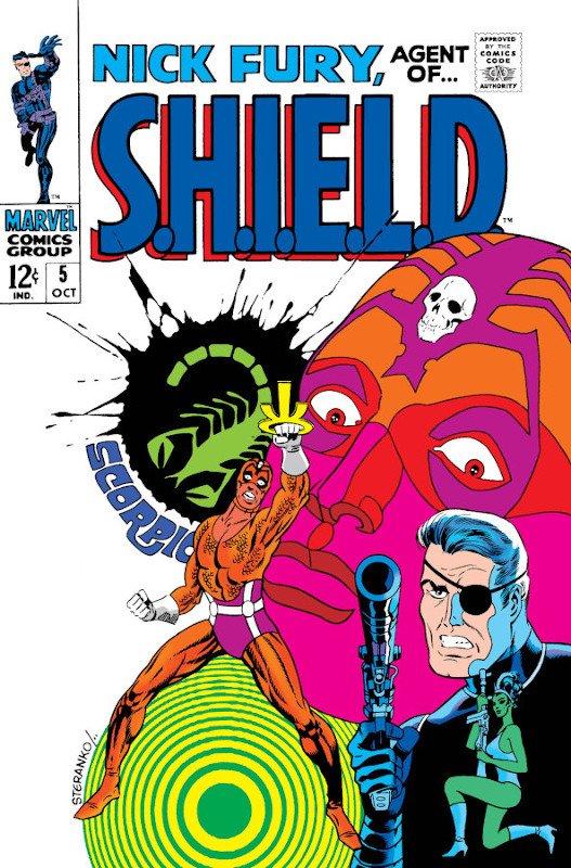 Cover dell'albo NICK FURY #5, con l'apparizione di Skorpio