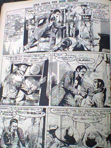 pagina di Tex con la pagina che risulta più volte sovrastampata e quindi illeggibile