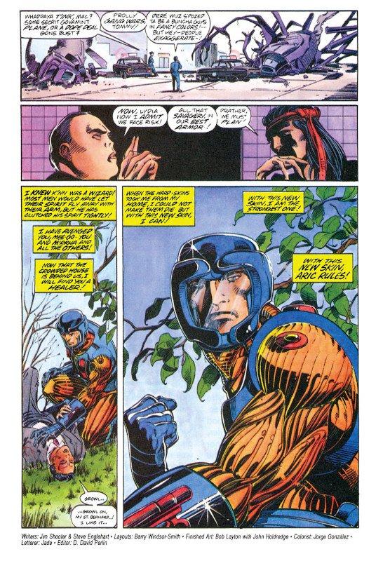 pagina di X-O manowar con Barry Windsor Smith