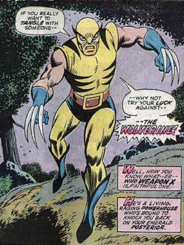 la prima apparizione di wolverine, nell'ultimo celebre riquadro di HULK #180