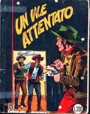 """Copertina del 28 di Tex, """"Un Vile Attentato"""""""