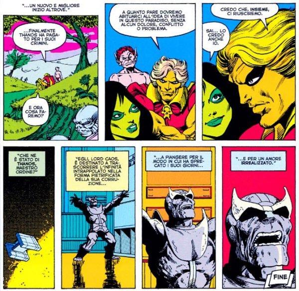 Sequenza finale da MARVEL 2 IN 1 ANNUAL 2 (1977). sempre di Jim Starlin