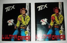 """La differenza tra la copertina originale del n.70 di Tex (""""L'Ultima Carica""""), e le successive ristampe"""