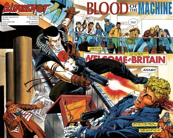 vignetta di Bloodshot, disegnata da Bob Layton