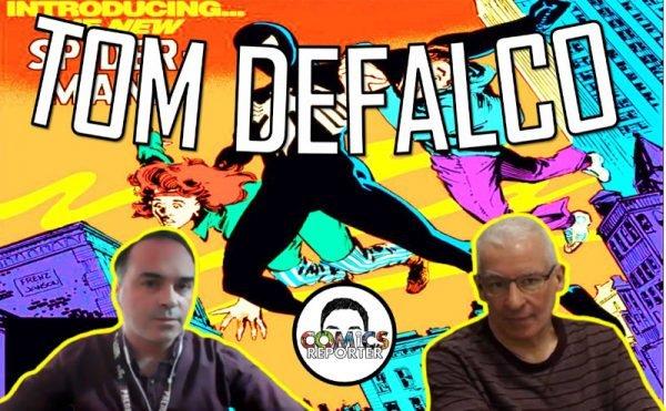 banner con Tom DeFalco