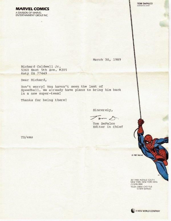 lettera firmata da tom defalco