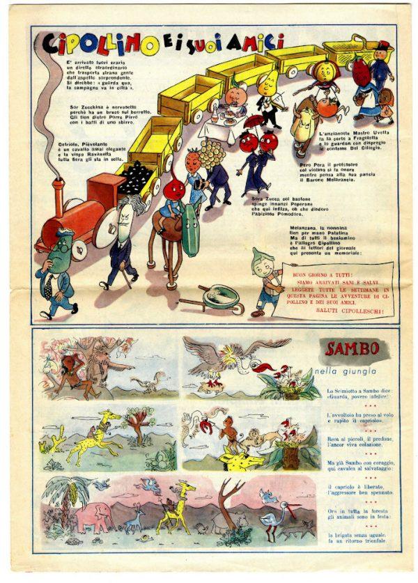 """pagina estratta dal n°1 de """"il pioniere"""" del 3 settembre 1950"""