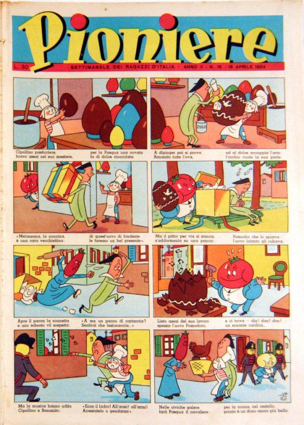 """pagina estratta dal n°16. de """"Il Pioniere"""" del 18 aprile 1954"""