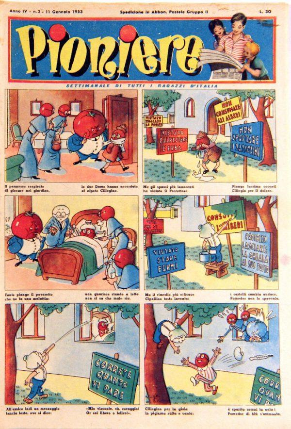 """pagina estratta dal n°2 de """"il Pioniere"""" dell'11  gennaio 1953"""