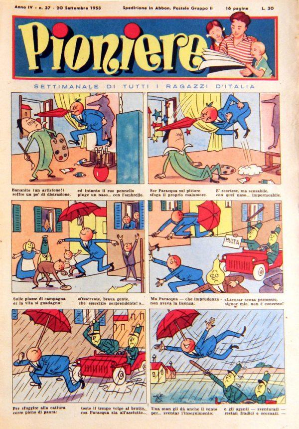 """pagina estratta dal n°37 de """"Il Pioniere"""" del 20 settembre 1953"""
