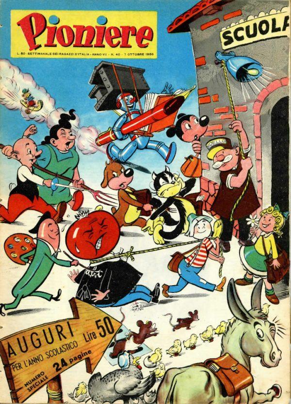 """Copertina del n°40 de """"Il Pioniere"""" del 7 ottobre 1956"""