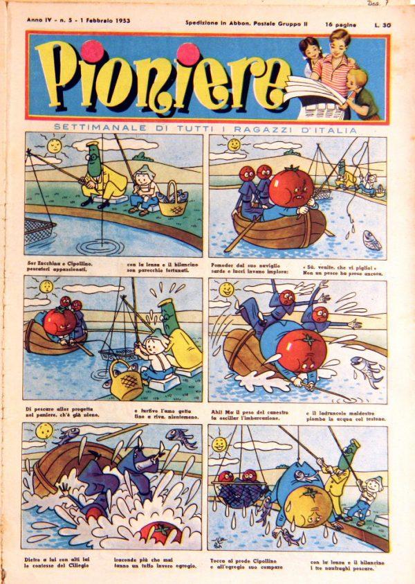 """pagina estratta n°5 de """"Il Pioniere"""" dell' 1 febbraio 1953"""
