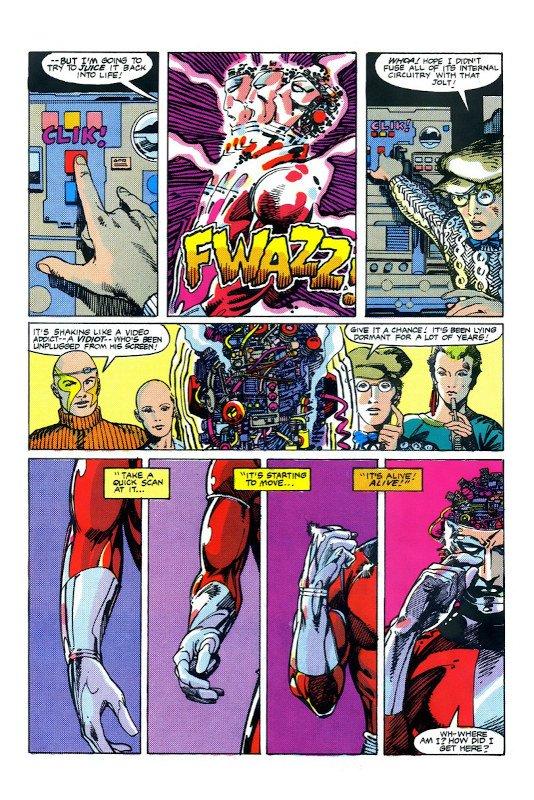 pagina estratta dalla miniserie machine-man