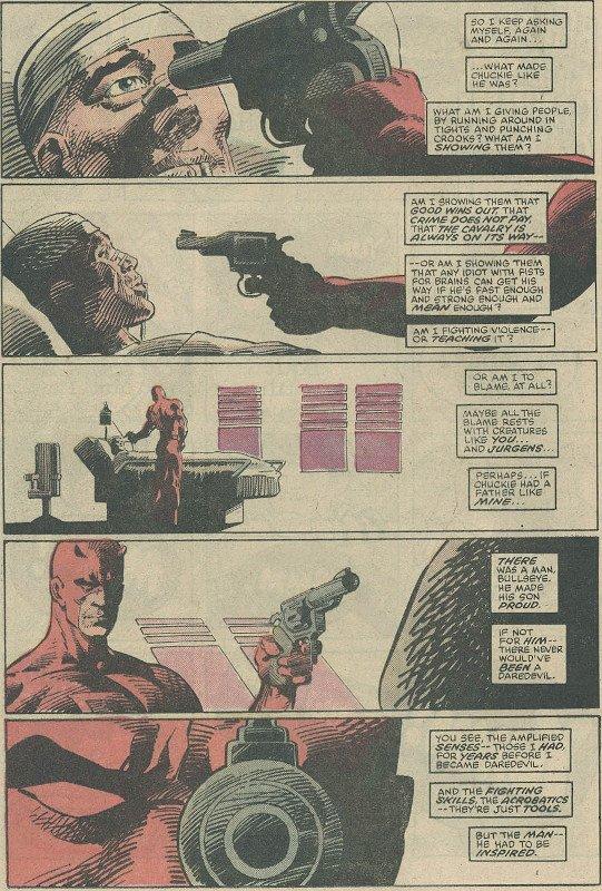 pagina di Daredevil tratto dall'albo DD #191 di Frank Miller