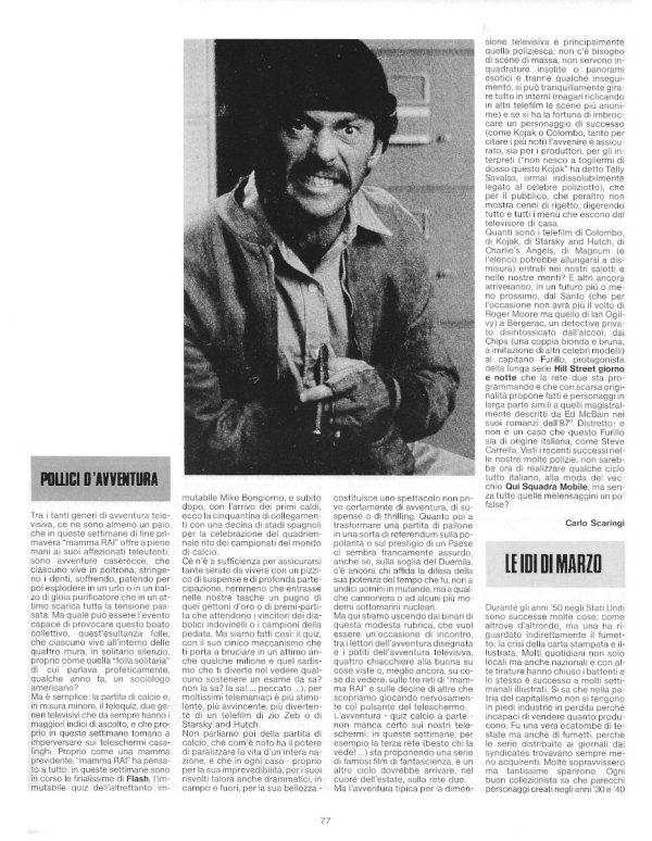 """Supermarket: L'articolo di Carlo Scaringi, sul n. 6 di Pilot (Pollici d'Avventura) e l'inizio di """"Le Idi di marzo"""" con un di Brutus-Bernardi."""