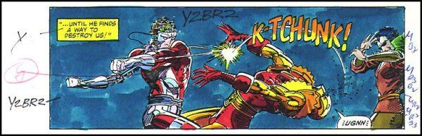 vignetta dalla miniserie-machine-man con indicazioni