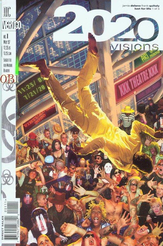 Cover del n. 1 della miniserie 2020 Visions, scritta da Jamie Delano (DC Comics)